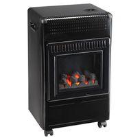 Favex - radiateur à gaz infrableu 3500w noir avec effet feu - 859.1700