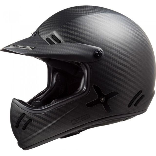 Ls2 Casque Moto Cross Rétro Scrambler Xtra Mx471 Carbone Carbone