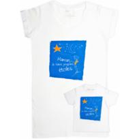 Rigolobo - Cadeau mère-fils : Tunique et T-shirt 'Maman, je t'aime jusqu'aux étoiles