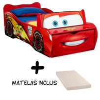 Bebe Gavroche - Lit Flash McQueen Cars Disney + Matelas
