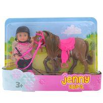 Jenny - Laura et son poney marron foncé