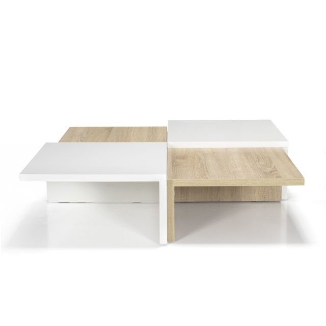 Alinea Checker Table Basse Carree De Style Scandinave Pas Cher