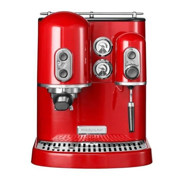 KITCHENAID Machine expresso artisan 1300w 15 bars 2L rouge empire