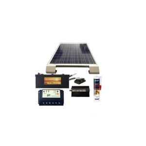 sellande kit solaire 150w autonome pour camping car avec fixations pas cher achat vente. Black Bedroom Furniture Sets. Home Design Ideas