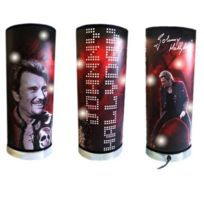 Johnny Halliday - Grande lampe à poser rouge Johnny Hallyday