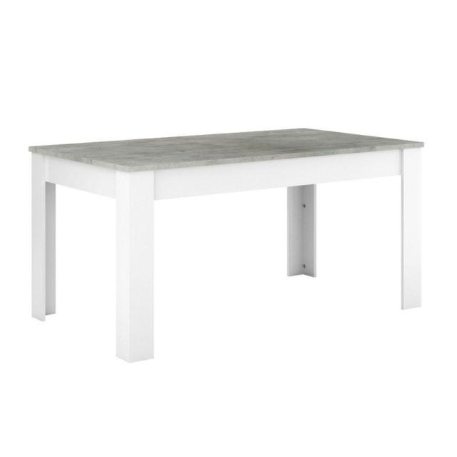 Demeyere Table Tennesse 160x90 cm Blanc Perle/Woodcorn