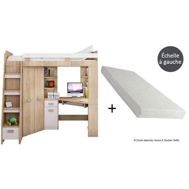 House And Garden Pack Lit Combine Bureau Armoire Matelas
