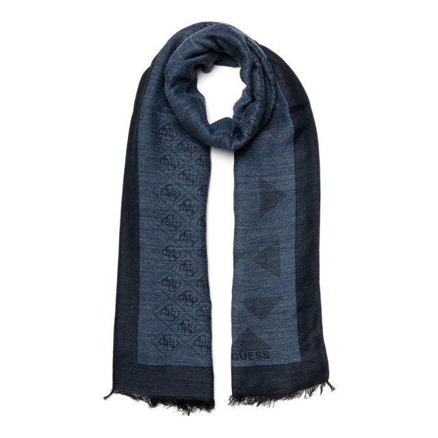 5f2b5078fa06 Guess - Echarpe Homme Am6516 Bleu - pas cher Achat   Vente Etoles, châles -  RueDuCommerce
