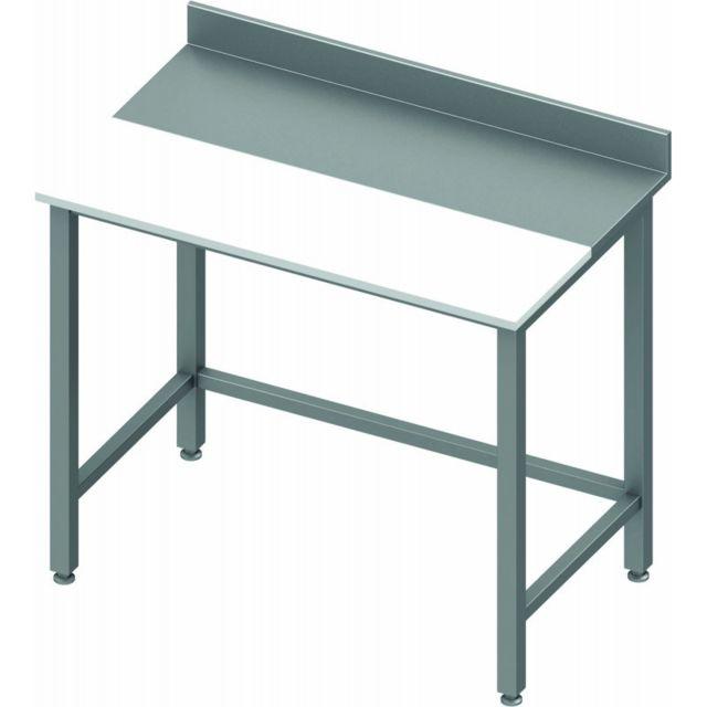 Materiel Chr Pro Table de Découpe Inox et Poly - Profondeur 800 - Stalgast - inox 800x800 800