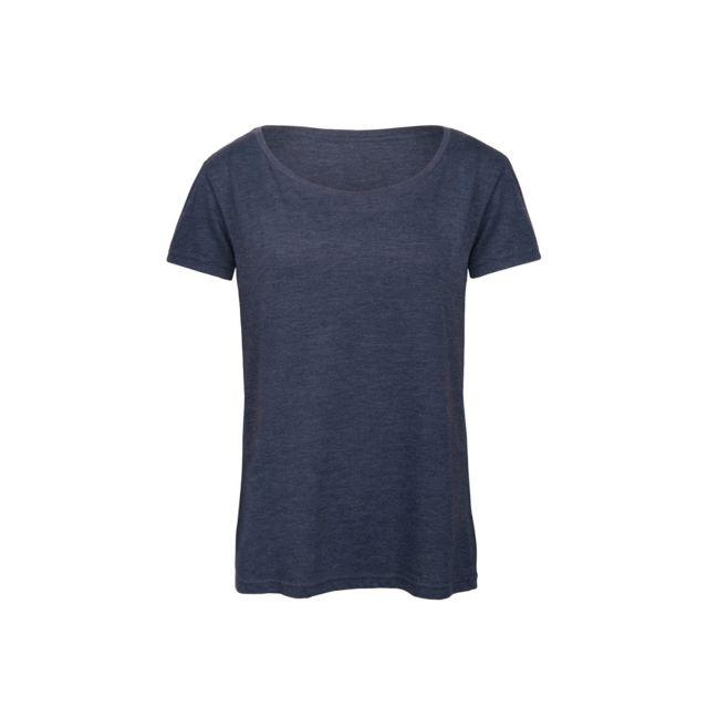 B&C PRO B&C - T-shirt - Femme 2XL, Bleu marine chiné Utbc3644