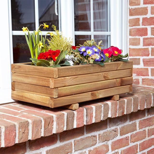 cemonjardin jardini re rectangulaire primo 70 pas cher achat vente poterie bac fleurs. Black Bedroom Furniture Sets. Home Design Ideas