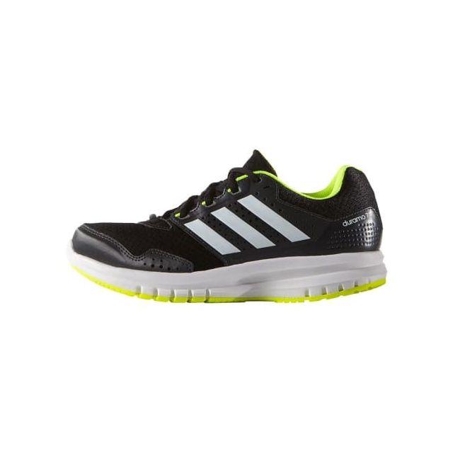 wholesale dealer 6fbc7 276e8 Adidas - Chaussures Duramo 7 noir gris jaune enfant Multicolour - 30 - pas  cher Achat   Vente Chaussures running - RueDuCommerce