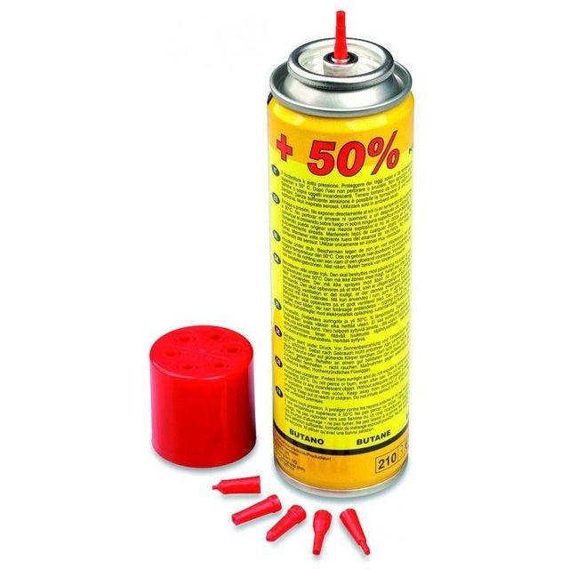 Providus Recharge de gaz butane 135g + 6 adaptateurs pour chalumeau et briquet