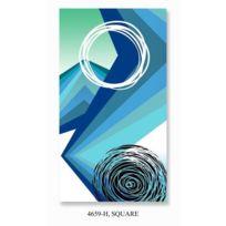 Hip - Serviette de Plage Square 100x180 cm bleu et blanc
