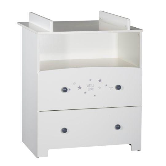 MONSIEUR BÉBÉ Table à langer avec baignoire et rangements