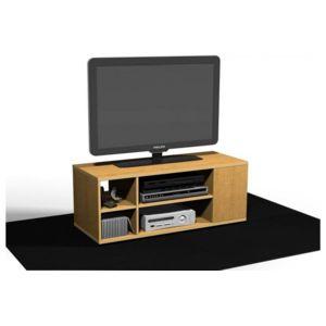 Ze shop meuble tv en 90 d cor ch ne pierre marron pas for Meuble tv 90