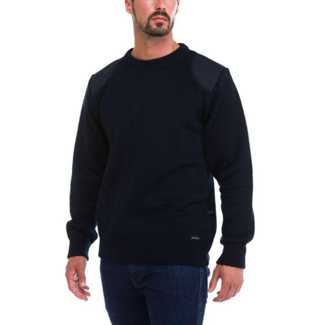 Dalmard Marine - Pull laine commando Couleur - bleu, Taille Homme - Xxl 54b0dff23d06