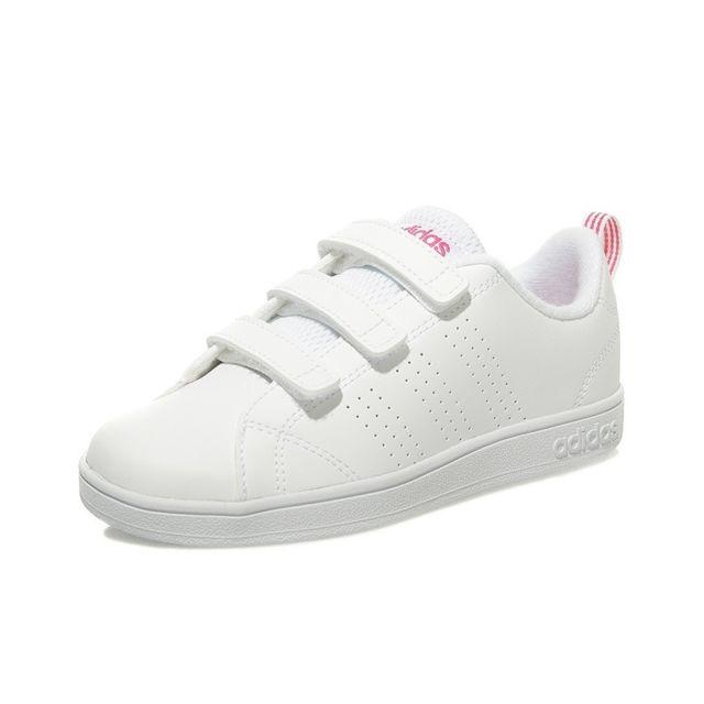 big sale 38dcf f1170 Adidas - Chaussures VS Advantage Clean Cloudfoam Blanc Fille Adidas  Multicouleur 31.5