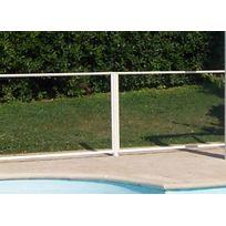 Chalet & Jardin - Poteau blanc 6 x 117 cm pour barrière de piscine