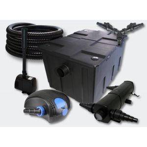 Aqua occaz kit filtration complet 18w fontaine pour for Kit filtration bassin pas cher