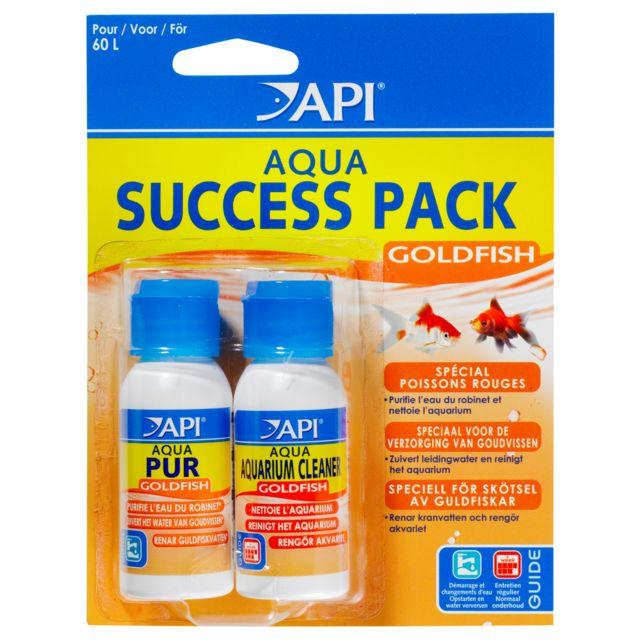Rena Api - Lot Conditionneur d'Eau Aqua Goldfish Succes Pack pour 60L
