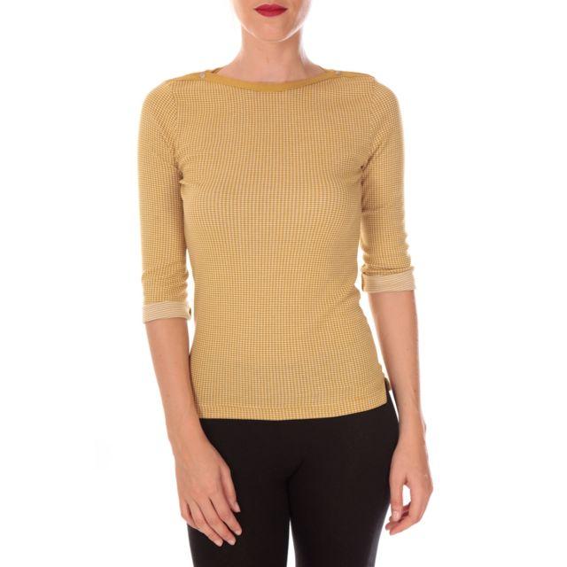 Petit Bateau - T-shirt femme manche 3/4 en