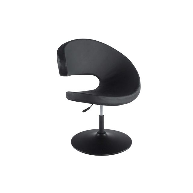 Fauteuil design 68x82x102cm Mara - noir