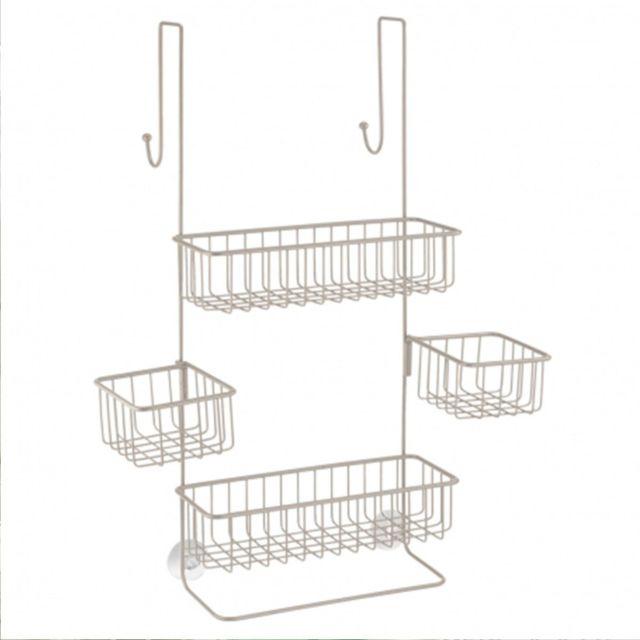 4f45da93fd8f Interdesign - Serviteur de douche 4 paniers à suspendre Metalo Argent - pas  cher Achat   Vente Meubles de salle de bain - RueDuCommerce