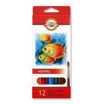 Koh-I-Noor - Fish Crayons De Couleur Aquarellables SET De 12