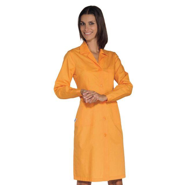 isacco blouse de travail femme manches longues abricot pas cher achat vente v tements. Black Bedroom Furniture Sets. Home Design Ideas