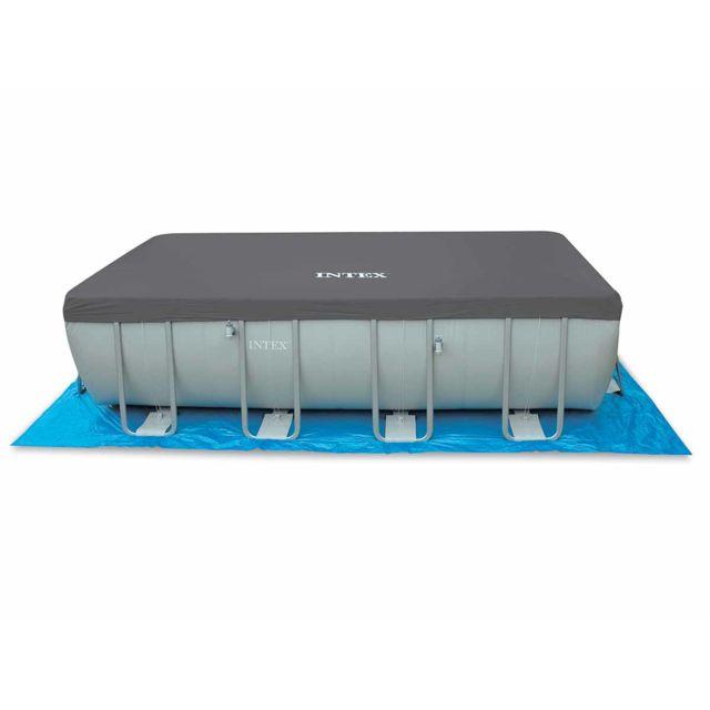 intex bche de protection pour piscine tubulaire rectangulaire 732 x 366 - Liner Pour Piscine Intex Tubulaire