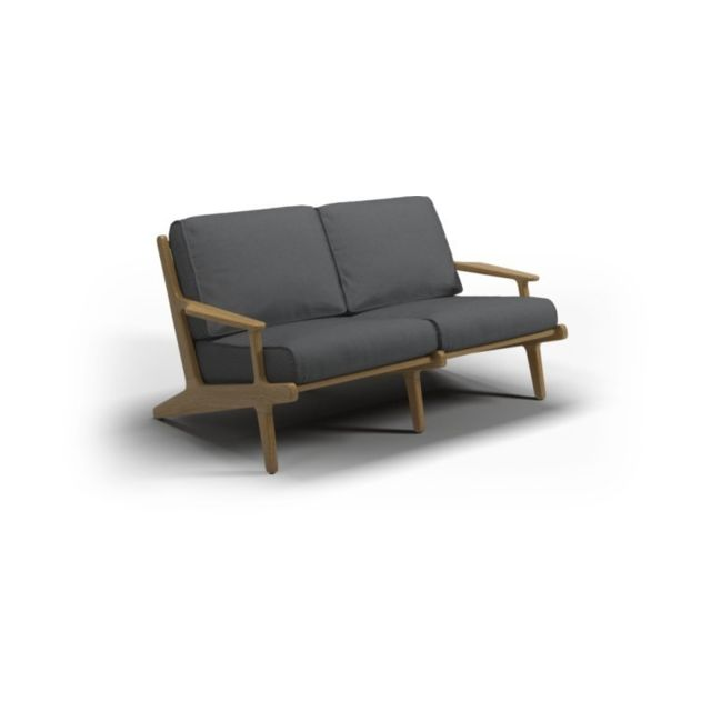 Gloster Sofa Bay 2 Seater - anthracite