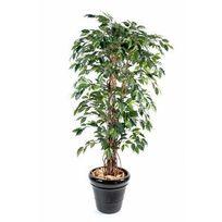Artificielflower - Arbre artificiel Ficus lianes grandes feuilles - plante d intérieur - H.150 cm vert - taille : 150cm