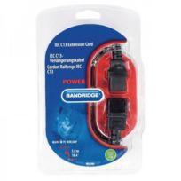 Bandridge - Cordon de rallonge Iec C13 Iec-320-C14 - Iec-320-C13 5,0 m noir