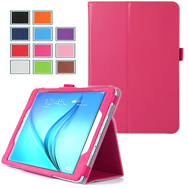 Samsung Galaxy Tab A 9.7 pouces Cuir Pu rose avec Stand - Etui coque de protection tablette