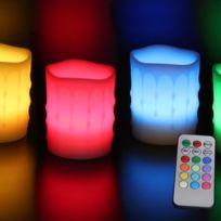 Rainbow - Bougie Led wave coulure multicolore + télécommande