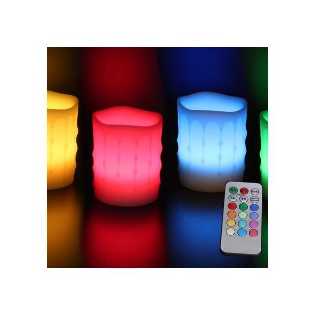 rainbow bougie led wave coulure multicolore t l commande pas cher achat vente bougies. Black Bedroom Furniture Sets. Home Design Ideas
