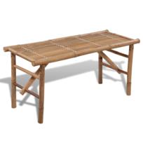 vidaxl banc pliable en bambou 118cm x 38cm pas cher achat vente banc de jardin rueducommerce. Black Bedroom Furniture Sets. Home Design Ideas