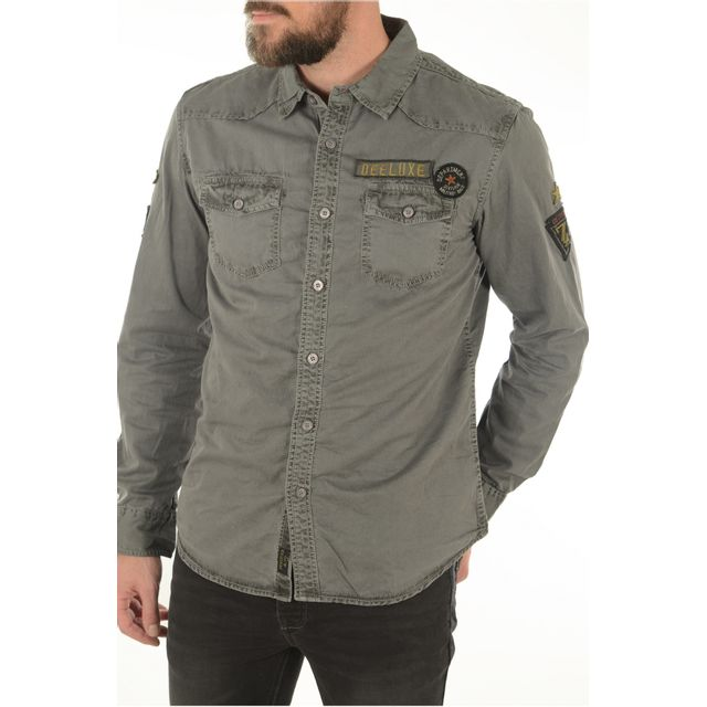 95646f6fe468a Deeluxe - Alone - pas cher Achat   Vente Chemise homme - RueDuCommerce