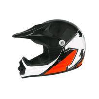 Casque moto cross enfant X2 - Noir / Orange - Taille M