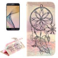 Wewoo - Housse Étui pour Samsung Galaxy J5 Prime Esthétique Windbell Pattern en cuir Flip Horizontal avec support & Slots de cartes Portefeuille