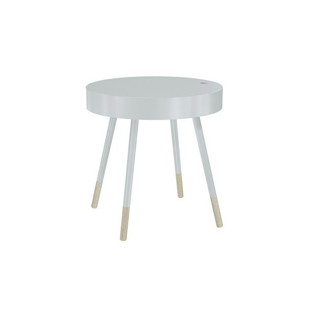 table ronde avec plateau amovible diam46cm blanc sebpeche31. Black Bedroom Furniture Sets. Home Design Ideas