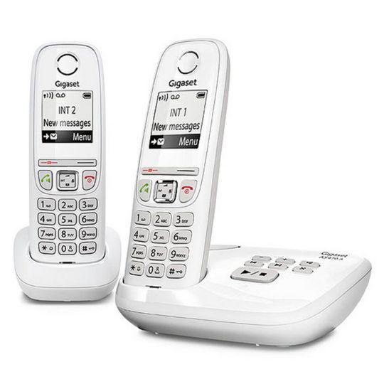 Téléphone sans fil avec répondeur - AS470A Duo - Blanc