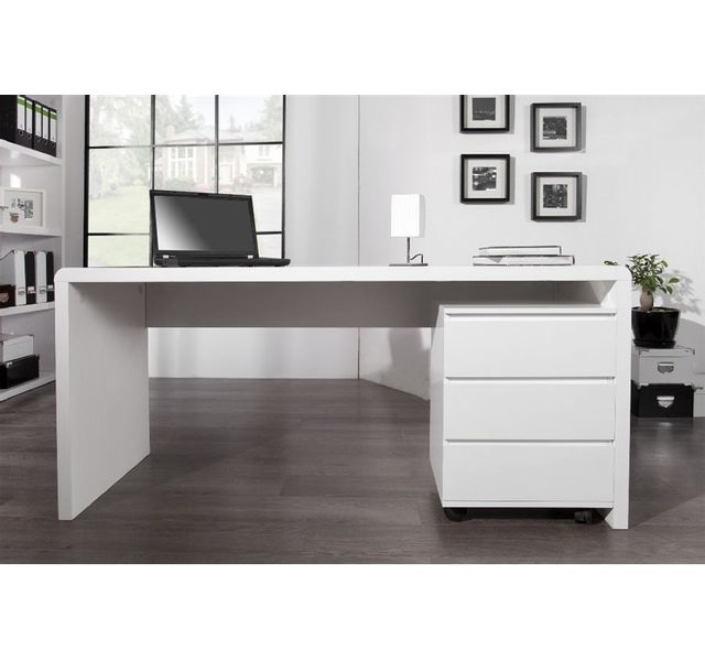 CHLOE DESIGN Bureau design Fatio - 160 - blanc
