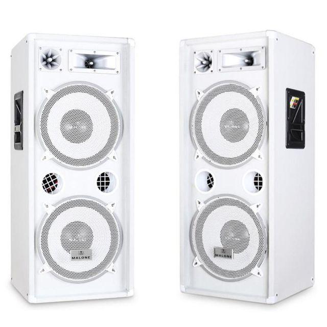 MALONE Pack d'enceintes sono DJ 3 voies 2x Subwoofer 30cm 2000W max