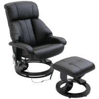 revendeur 018c8 00b5b Fauteuil de massage relaxation chauffage electrique repose-pied noir