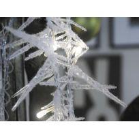 Blachereillumination - Guirlande lumineuse d'extérieur stalactites feutrine blanc 30 Led 180cm