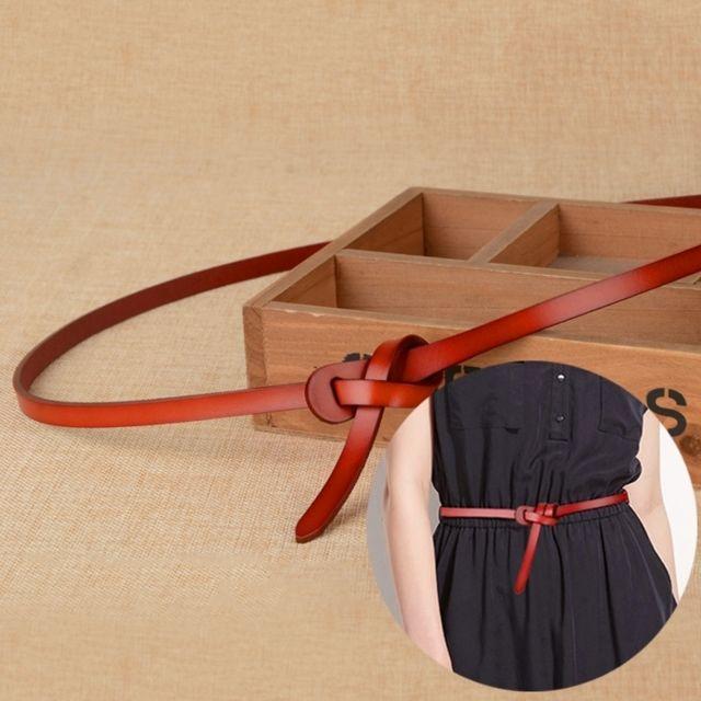 4b1a86ec6d6 Wewoo - Ceinture brun Femmes Nouveau Style Mode Véritable Cuir Mince  Décorative Accessoires