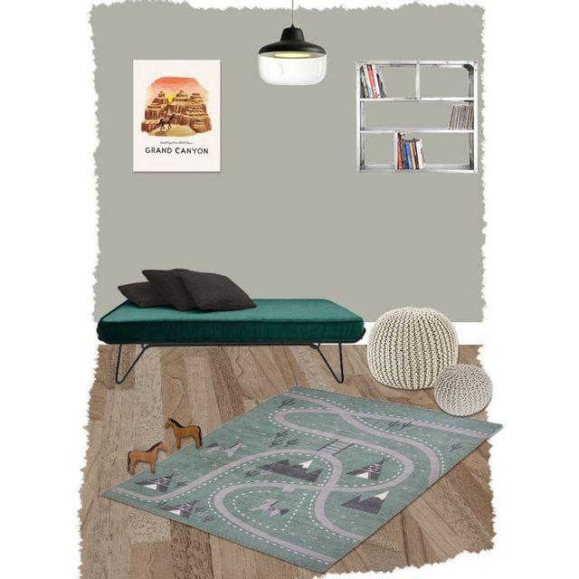 nattiot tapis little western indien pour chambre b b gar on par couleur vert taille. Black Bedroom Furniture Sets. Home Design Ideas