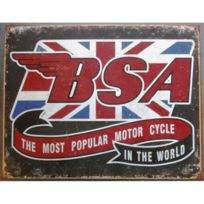 Universel - Plaque Bsa logo the most popular motorcycle anglaise
